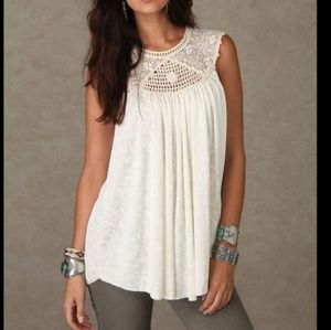 Free People Lace and Yoke Summer Top